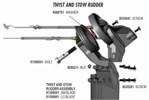 How to Fix Twist 'n Stow Rudder Up / Down